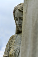 Mourning lady in hiding Mount Olivet Cemetery