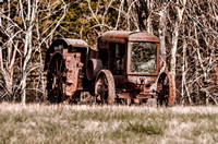 Rustic Antique Tractor On Top Of Hill Middle TN