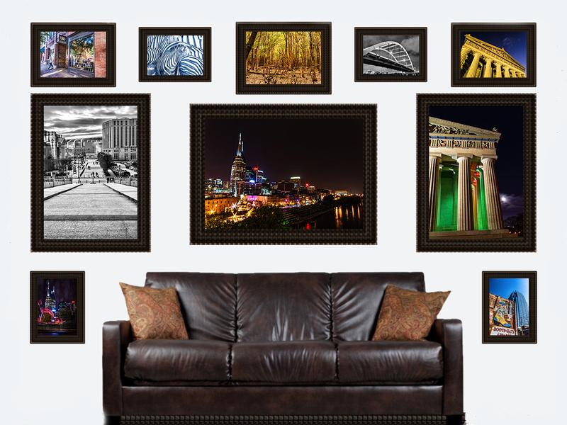 ten assortment framed on wall