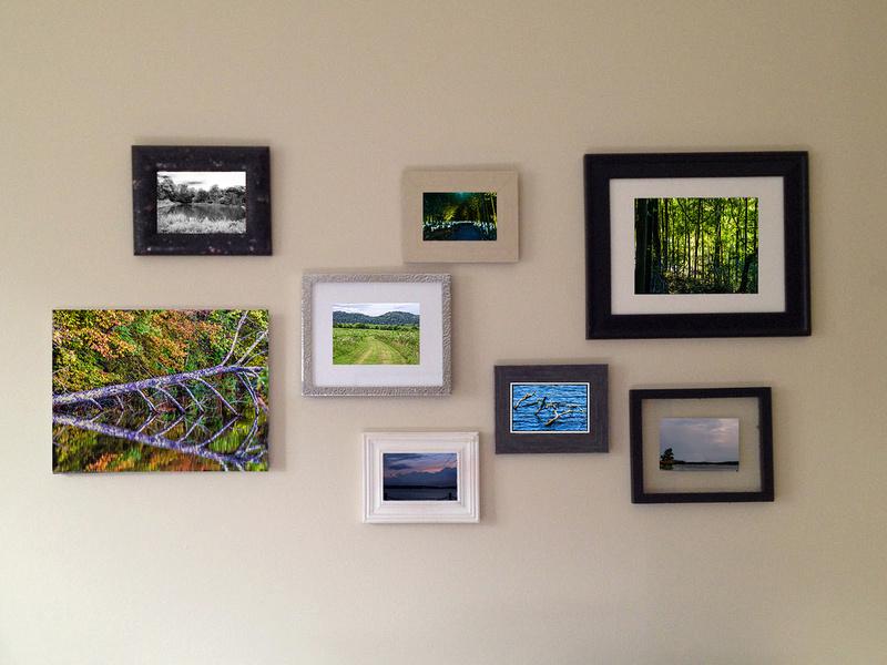 landscape mixture framed