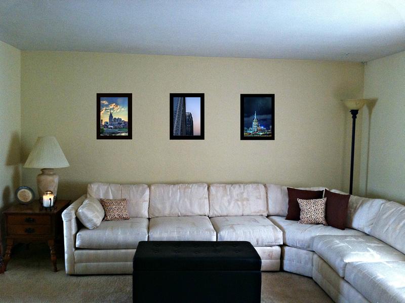 three nashville living room framed