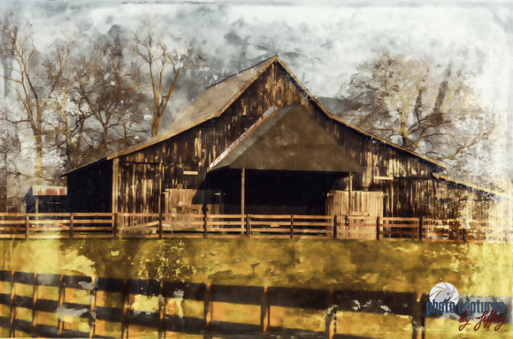 Horse Barn On Farm In Middle TN Version Two