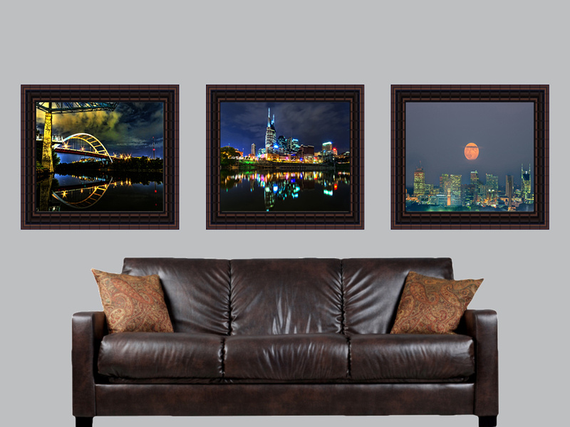 nashville three framed prints