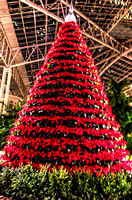 Large Poinsettia Christmas Tree Inside Hotel Nashville TN