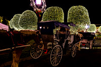 Carriages Lined Up At Country Christmas Nashville TN