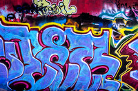 Pinks blues yellows graffiti Nashville TN