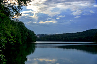 Calmness of Radnor Lake between summer rain