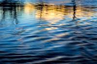 Ripples and sunset reflections