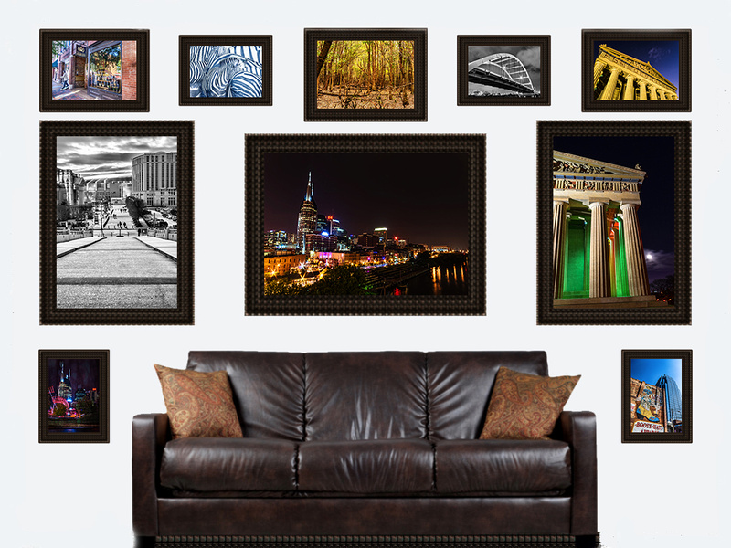 ten assortment framed on wall