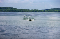Two Speed boats on waters of Percy Priest Lake