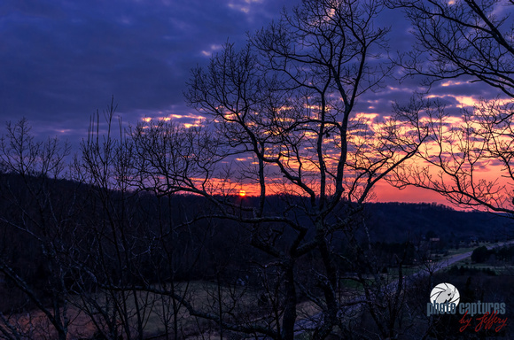Photo Captures by Jeffery: Scenic Sky Views &emdash; Sunset Spring Evening Through The Trees Nashville TN