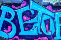 Betor Robin Egg Blue letters graffiti Music City