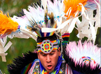 Native American Dancer Intense Motion