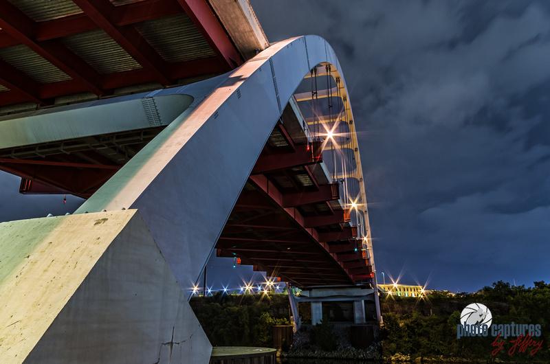 Side View Of Korean Veterans Blvd Bridge Nashville TN