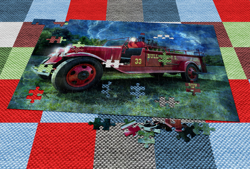 Antique Fire Truck Blended puzzle