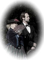 Abraham Lincoln And Antebellum Lady In Period Clothing Tennessee History Festival