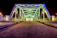 Nighttime on the John Seigenthaler Pedestrian Bridge