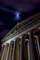 Smooth cloudy night sky Parthenon Centennial Park