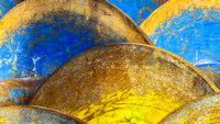 Blue Yellow Rust Metal Blades