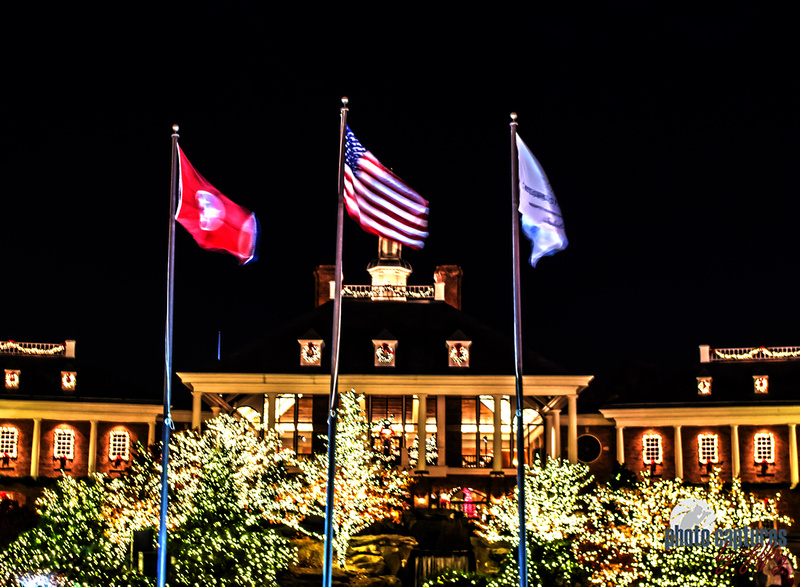 Flags In Front Of Hotel Country Christmas Nashville TN