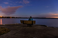 One Looking Out At Evening View Of Percy Priest Lake Nashville TN