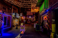 View of Printers Alley at night Nashville TN
