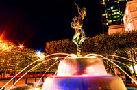 Harmony fountain at night colorful