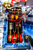 Colorful Inside view of Auto Pistons