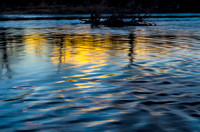 Harpeth River Sunset reflections in water