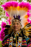 Native American Senior Male Fancy Dancer With Tall Headdress