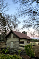 Cabin With Moon Overhead Woodlawn Cemetery Nashville TN